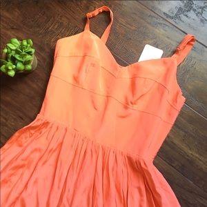 NWT Amanda Uprichard 100% Silk Pleated Mini Dress